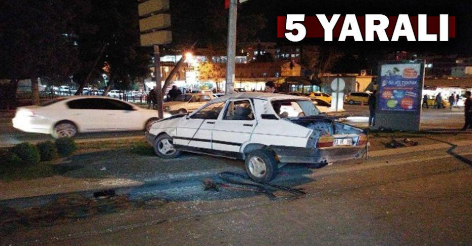 Şanlıurfa'da freni boşalan otomobil takla attı