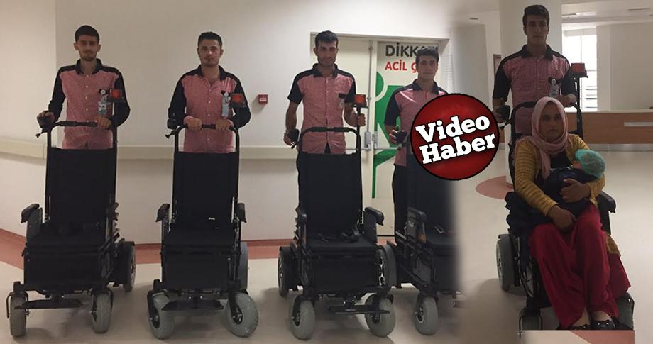 Şanlıurfa'da hastalar, akülü araçla taşınıyor