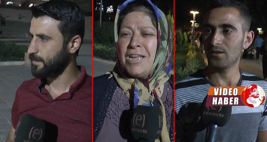 Şanlıurfa'da iftarını açan vatandaşlar kendini dışarı atıyor
