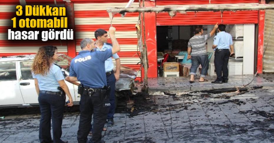 Şanlıurfa'da iş yerinin önünde yangın çıktı