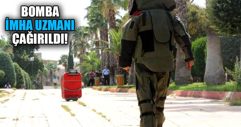 Şanlıurfa'da kırmızı valiz paniği!
