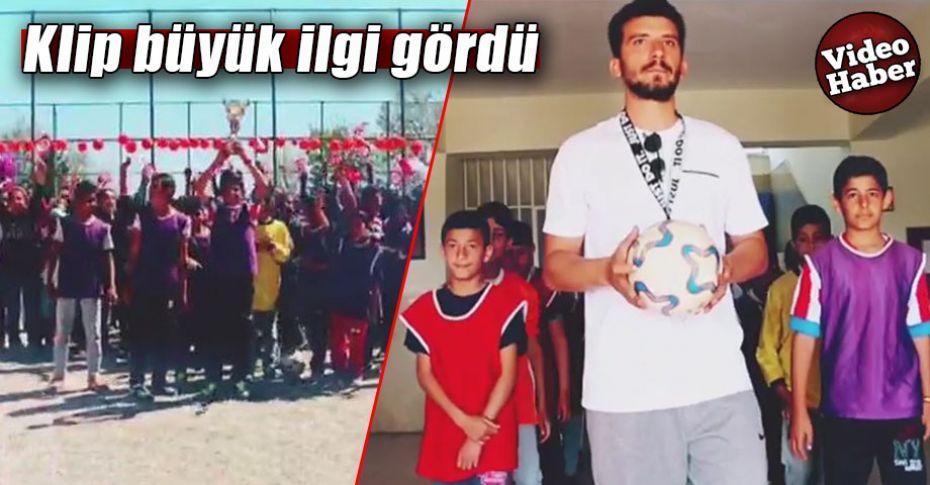 Şanlıurfa'da köy okulundan Euro 2024'e destek!