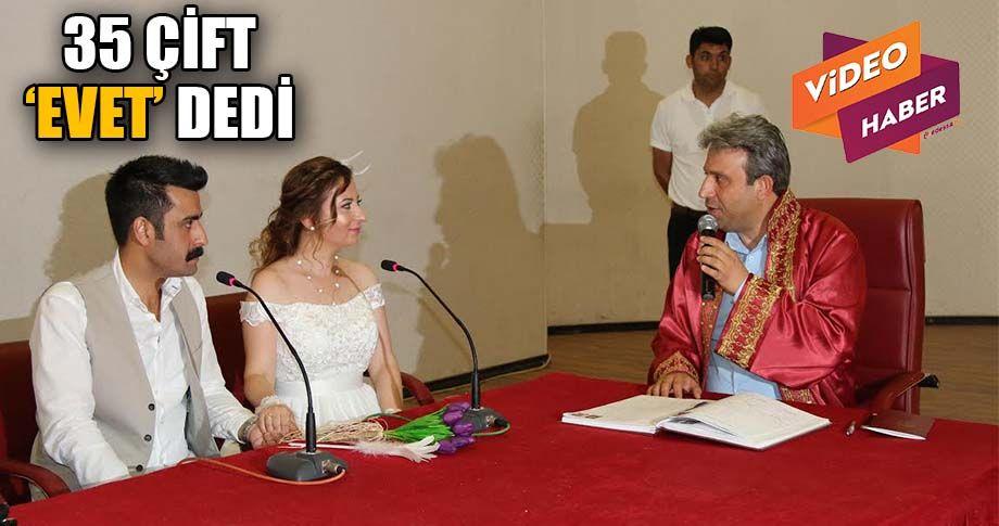 Şanlıurfa'da nikah salonlarında yoğunluk yaşandı