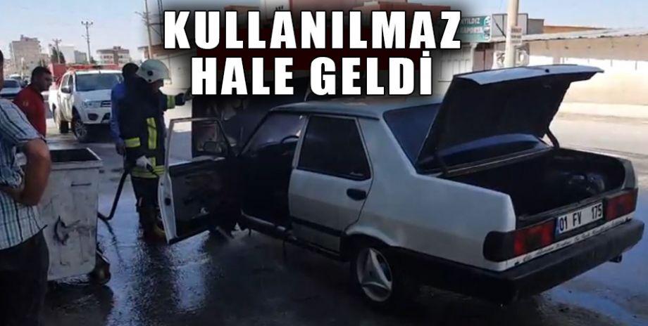 Şanlıurfa'da otomobil alev aldı!