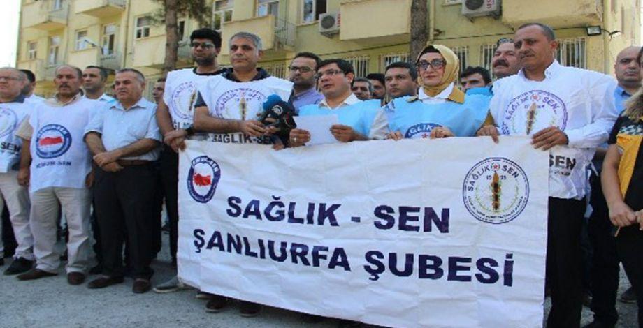 Şanlıurfa'da sağlıkçılara yapılan şiddete protesto