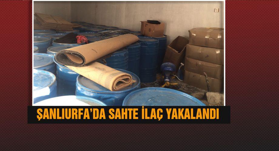 Şanlıurfa'da sahte ilaç baskını 3 gözaltı