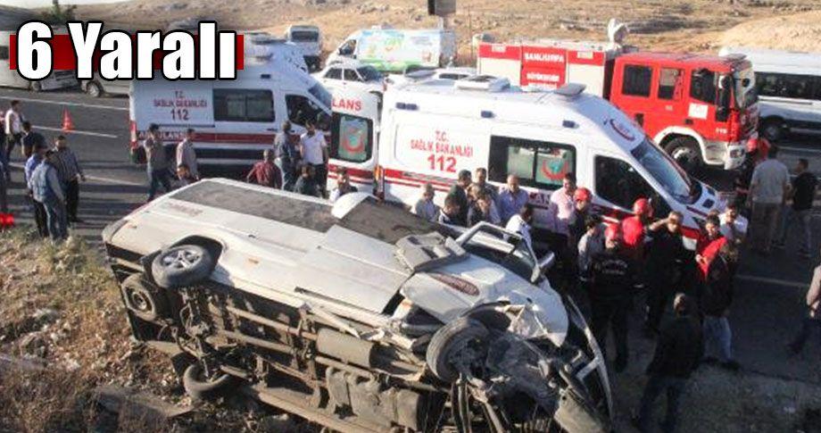 Şanlıurfa'da servis minibüsü devrildi!