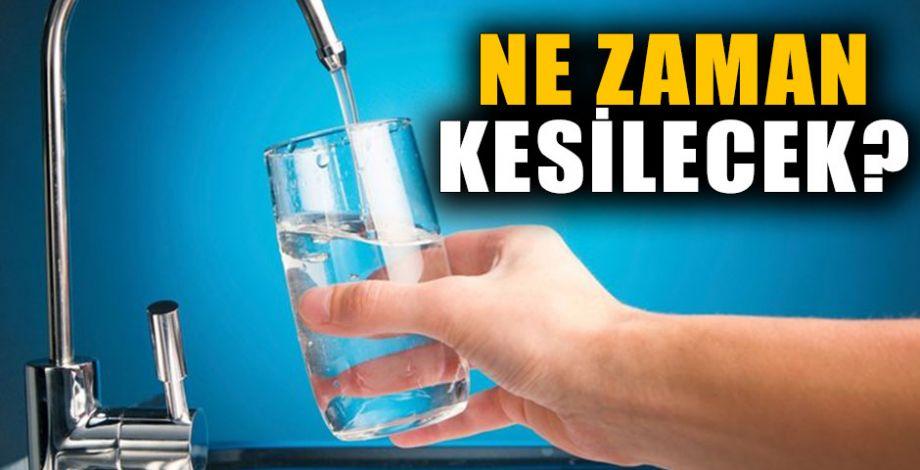 Şanlıurfa'da su kesintisi! Bu mahallelerde oturanlar dikkat