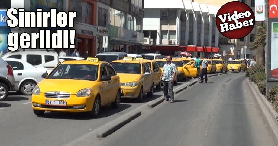 Şanlıurfa'da taksiciler, kesilen cezalara tepki gösterdi