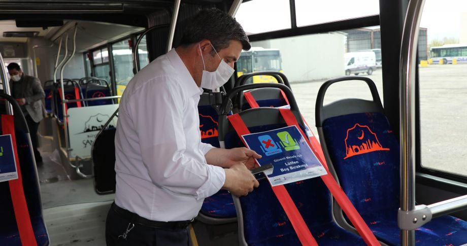 Şanlıurfa'da Toplu taşıma araçlarında yeni oturma düzeni