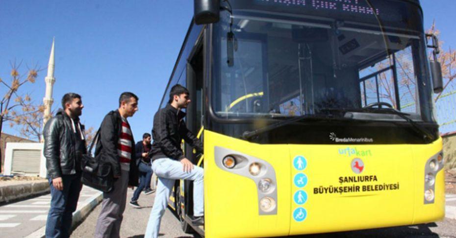 Şanlıurfa'da toplu taşıma ücretsiz!