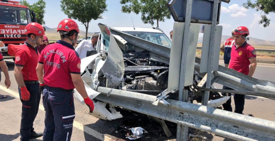 Şanlıurfa'da trafik kazası! 1 yaralı