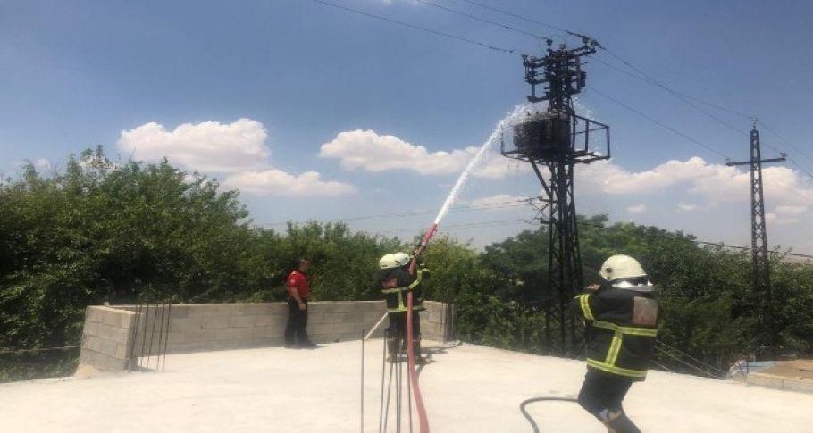 Şanlıurfa'da trafo yangını