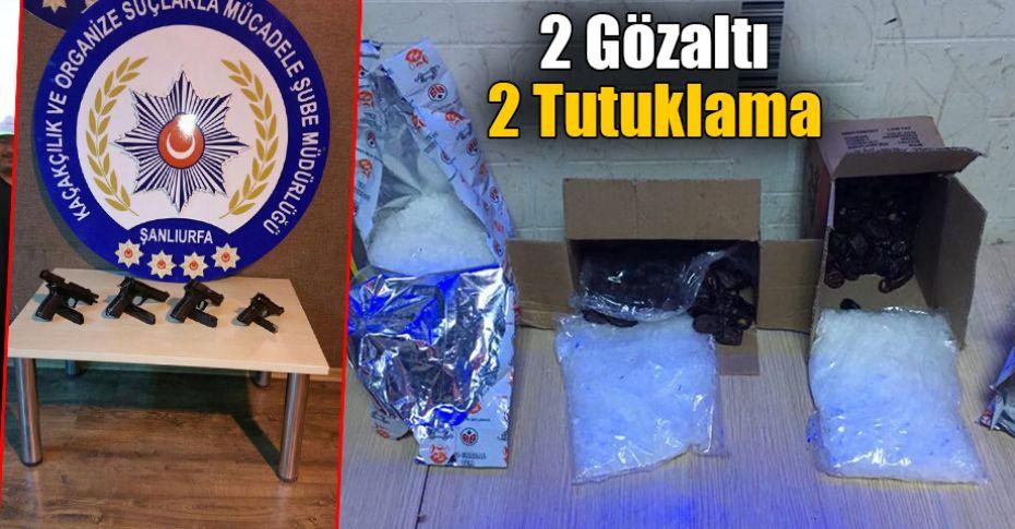 Şanlıurfa'da uyuşturucu ve ruhsatsız silah operasyonu