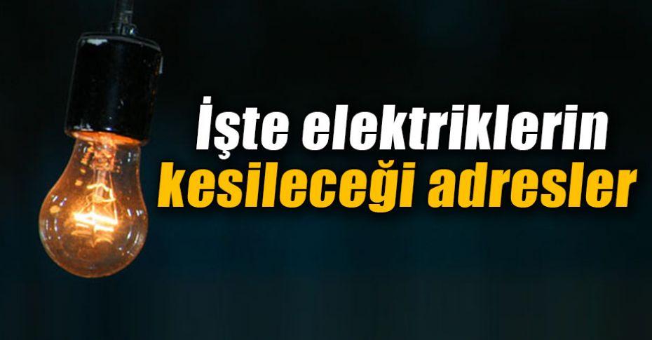 Şanlıurfalılar dikkat! elektrikler kesilecek