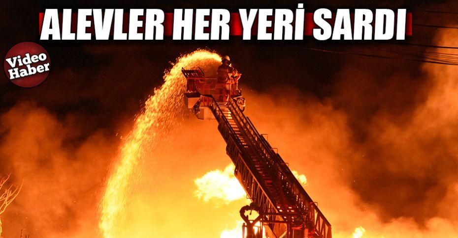 Sebze halinde büyük yangın!