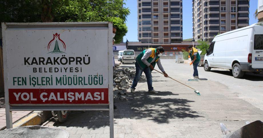 Seyrantepe Mahallesinde Yol Ağı Genişliyor (videolu)