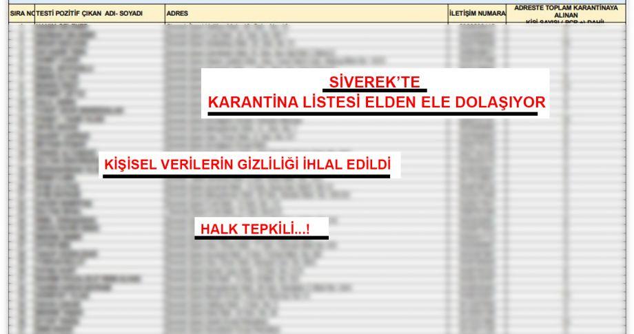 Siverek'te 613 adres karantinaya alındı, listeyi kim sızdırdı?