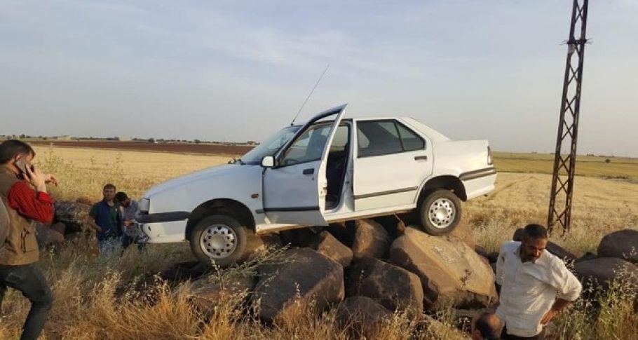 Siverek'te Kaza yapan aracı görenler gözlerine inanamadı
