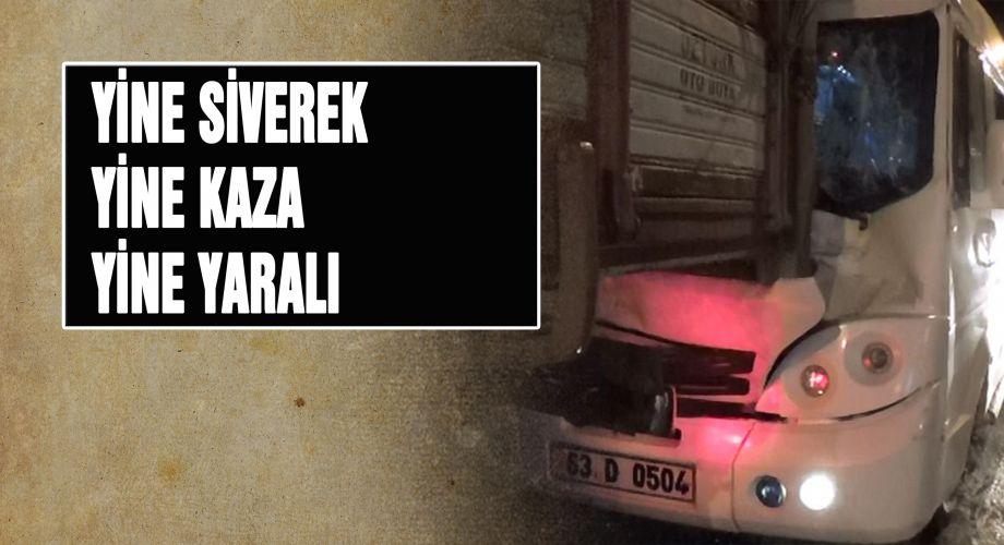 Siverek'te minibüs, kamyona çarptı: 7 yaralı