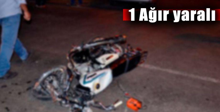 Siverek'te motosikletle otomobil çarpıştı