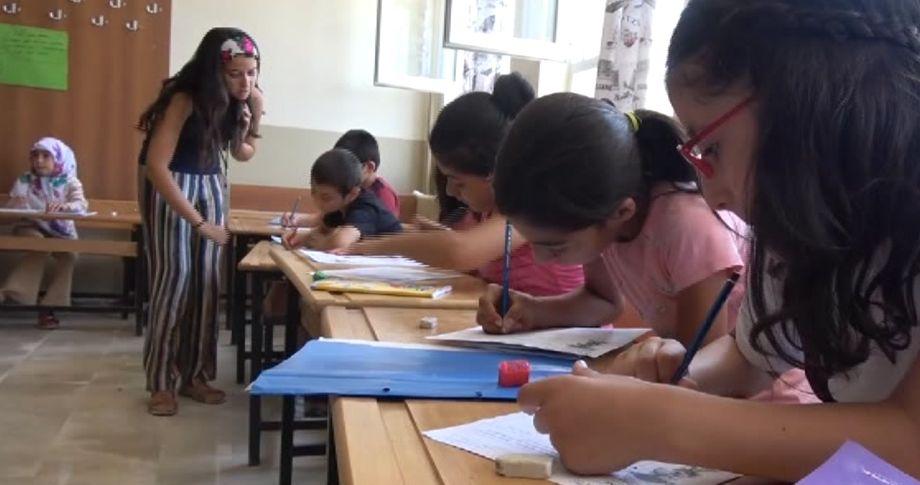 Siverek'te tarım işçisi çocuklara yaz okulu