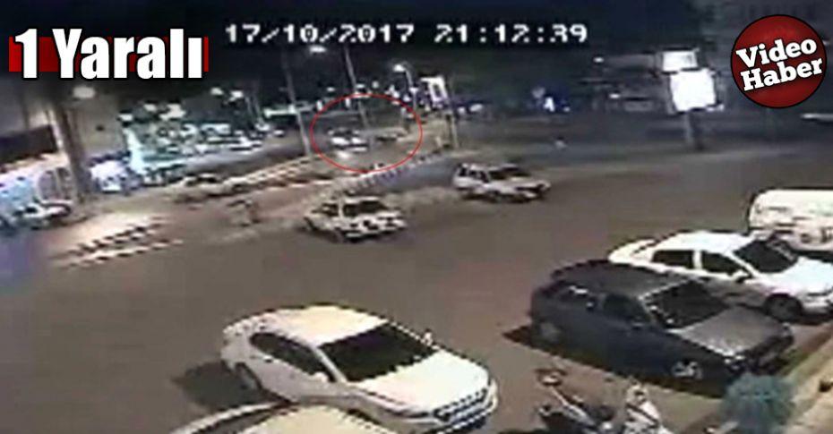 Siverek'teki motosiklet kazası kameralara yansıdı