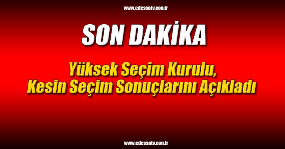Son Dakika! YSK'dan Açıklama...