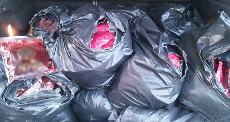 Şüpheli araçta 361 kilo kaçak nargile tütünü ele geçirildi