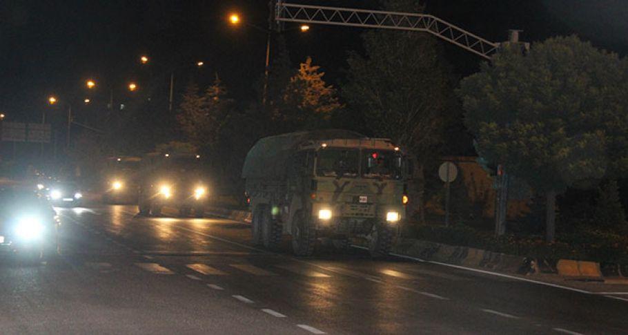 Suriye sınırına askeri sevkıyat devam ediyor !