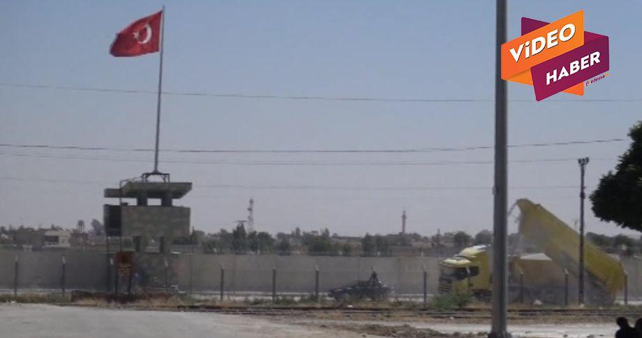 Suriye sınırına yapılan yol asfaltlanıyor