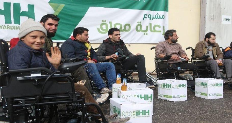 Suriyeli'deki Engelliler Unutulmadı