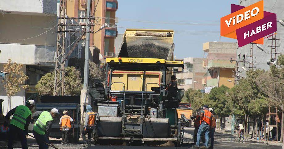 Suruç'ta yol yapım çalışmaları sürüyor
