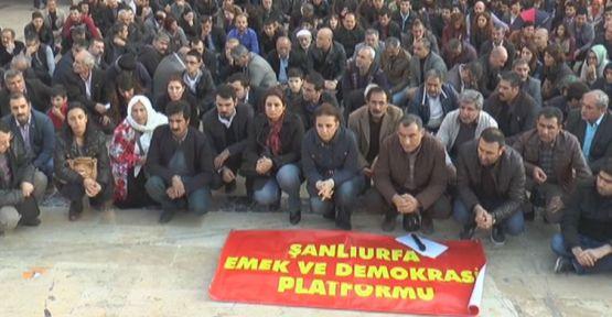 TAHİR ELÇİ'NİN ÖLDÜRÜLMESİ URFA'DA PROTESTO EDİLDİ!