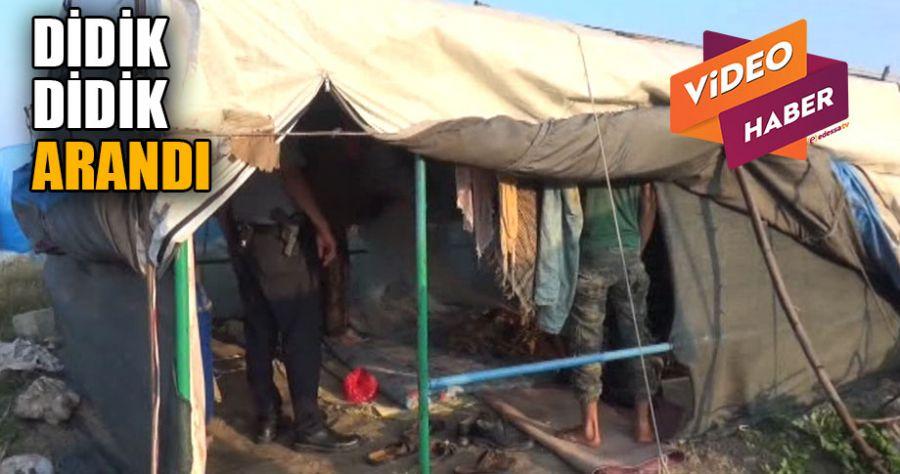 Tarım işçilerinin çadırlarına operasyon