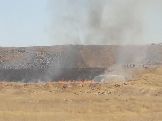Jandarma ekipleri yangına seferber oldu