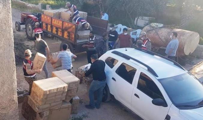 Şanlıurfa'da kaçak 128 bin makaron ele geçirildi