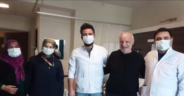 64 yaşındaki korona hastası 79 günlük sonra hastalığı yendi