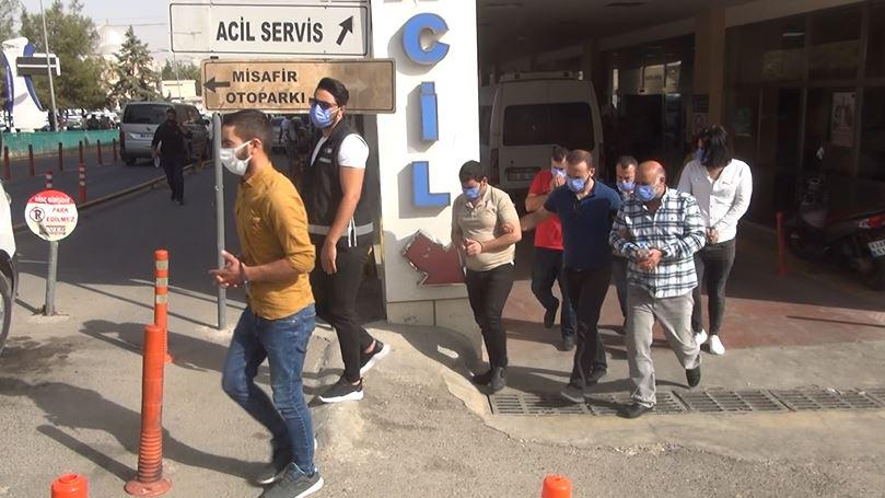 Urfa'da çökertilen sahte reçete çetesi adliye'ye çıkarıldı