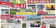 26 Mayıs Şanlıurfa Gazete Manşetleri