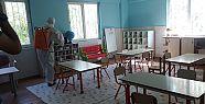 Akçakale Belediyesi okullarda hijyen çalışmasına...