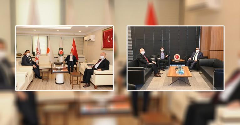 Canpolat, Ankara mesaisinde sendika başkanları...