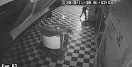 Levyeli hırsızlık güvenlik kamerasında