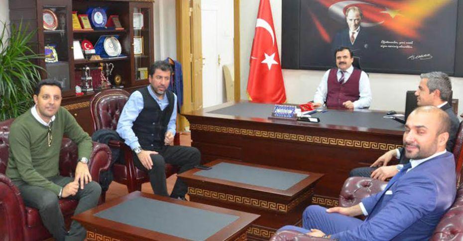 Tiyatro ve Sinema sanatçısı Bilgin, İl Milli Eğitim Müdürü Turan'ı ziyaret etti