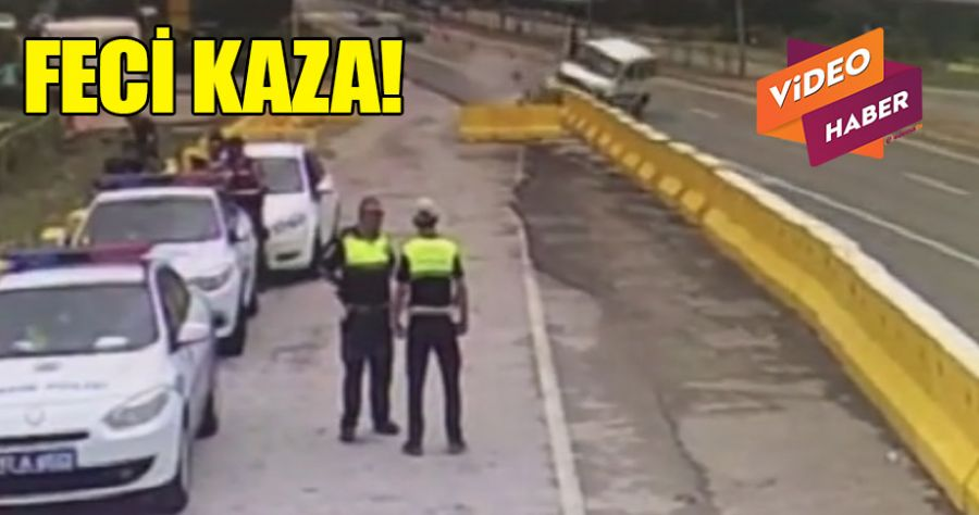 Trafik kazası anbean kamerada