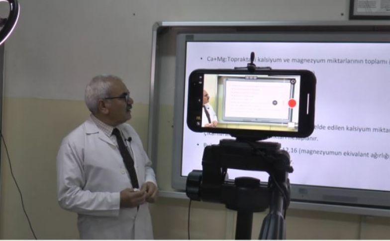 TRT için EBA dersleri Şanlıurfa'da çekildi(videolu)