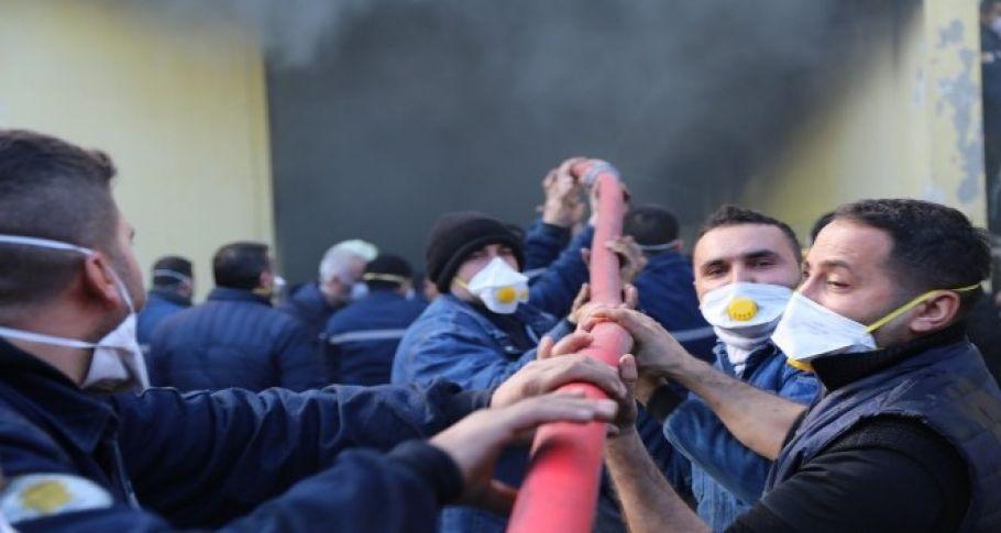 Türkiye'nin ilk filtre fabrikası ikinci kez yandı