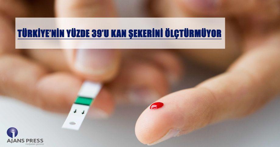 Türkiye'nin yüzde 39'u kan şekerini ölçmüyor