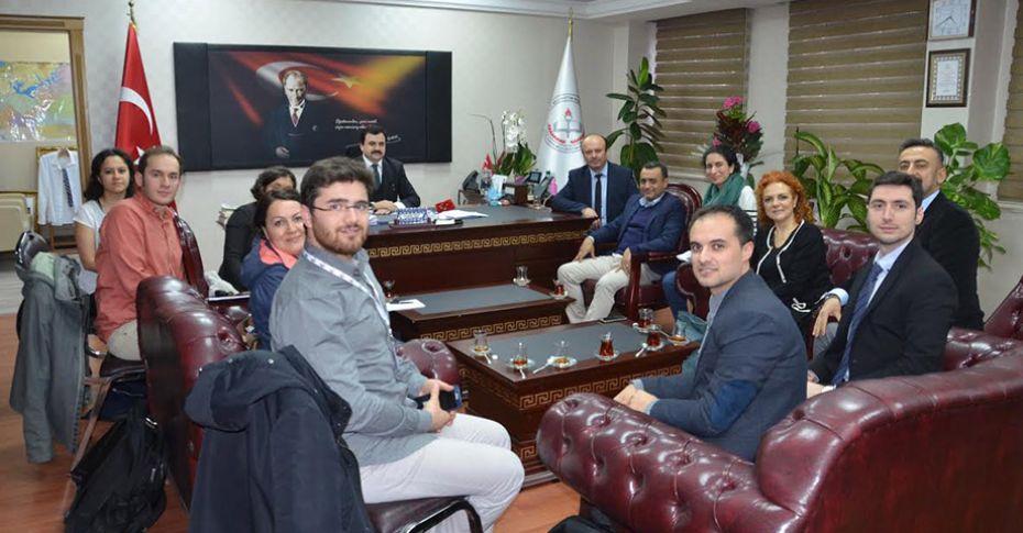 UNICEF ve Kızılay'dan İl Milli Eğitim Müdürü Turan'a ziyaret