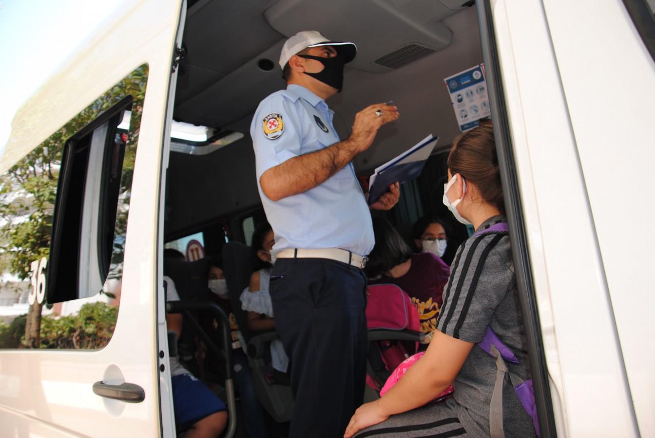 Urfa'da okul servis araçları denetlendi